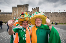 Ireland fans have taken over Cardiff ahead of tonight's World Cup qualifier