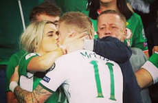 James McClean embracing his family after Ireland's win produced this brilliant photo