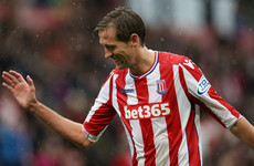 Former Liverpool and England striker Peter Crouch enters the Guinness Book of Records
