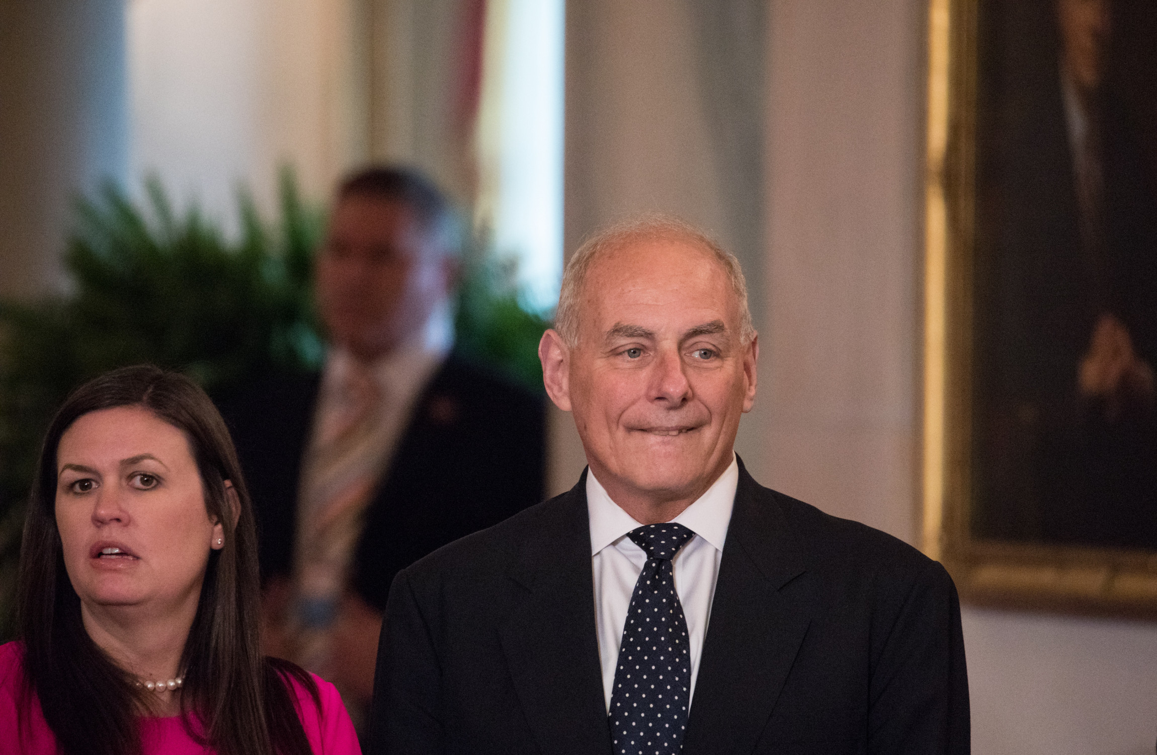 John Kelly Charms Press At Briefing Urging Them To