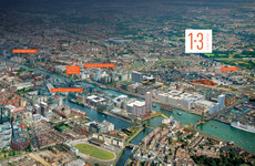 How much is this plot of land in the Docklands up for sale for? it's the week in numbers
