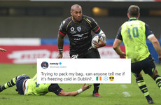 A rugby player asked what the weather was like in Dublin ahead of his match against Leinster and got the best responses