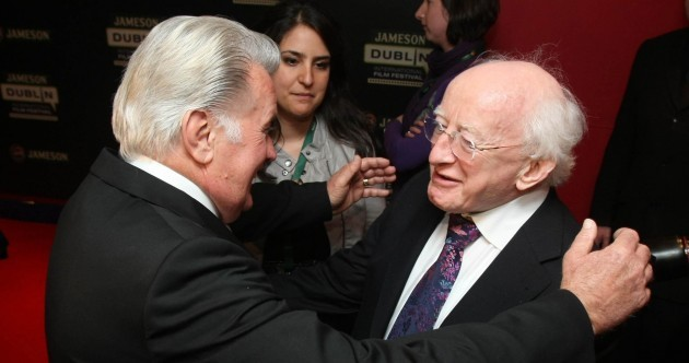 New BFFs: Martin Sheen meets Michael D