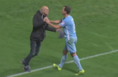 Angry Coventry City fan invades pitch to confront players mid-game