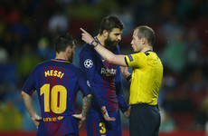 Piqué handed comical red, 100 up for Messi, and the rest of tonight's CL results