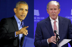 Obama and Bush both take aim at 'bigotry' of Trump era