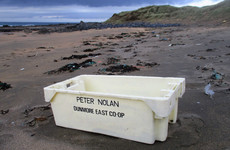 Box from ship that sank off Waterford 21 years ago washes up on Clare coast after Ophelia