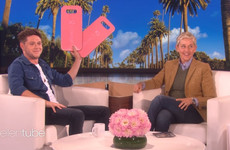 Niall Horan introduced the classic Late Late line 'and there's one for everyone in the audience' to The Ellen Show