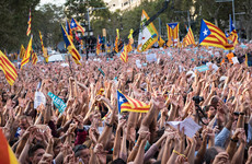 450,000 protest in Barcelona as Catalan leader claims Spanish government is 'acting like Franco'