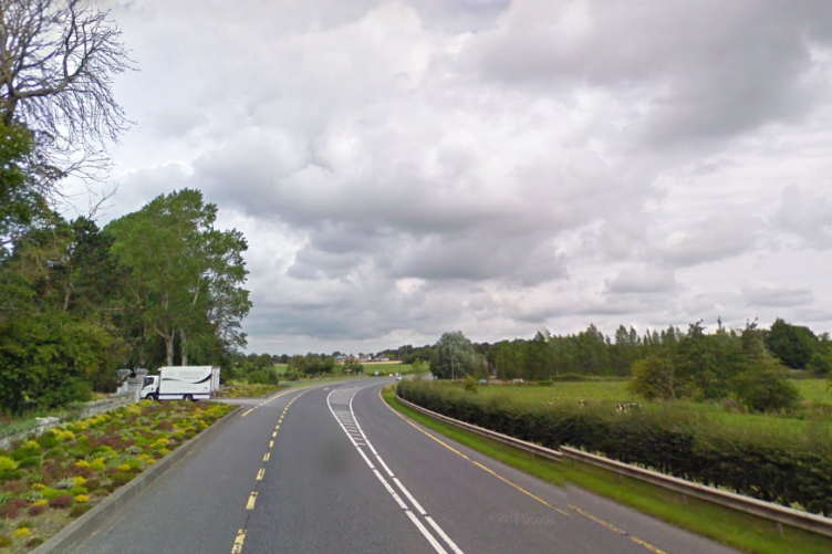 A stretch of the N2 near Balrath, Meath, where the incident occurred.