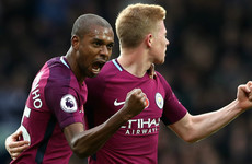 Man City restore five-point lead while late Zaha equaliser earns Palace a point