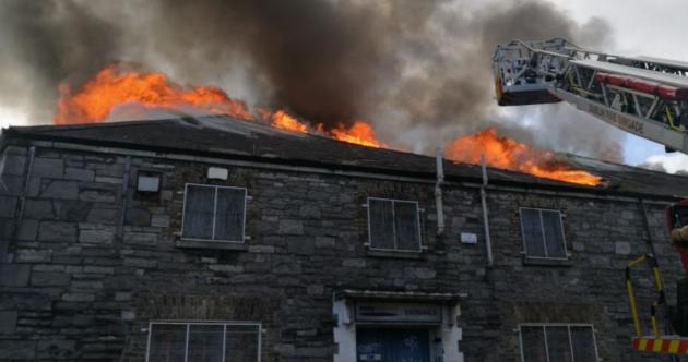 Firefighters battle huge warehouse blaze on Dublin's northside