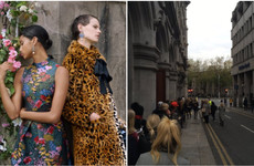Loads of people queued outside H&M in Dublin this morning to get their hands on designer gear