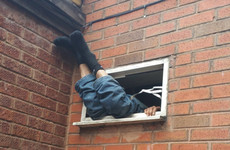 Suspected burglar gets stuck in takeaway vent for seven hours
