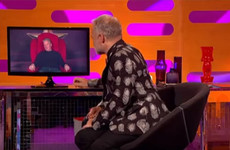 This man's red chair story about his girlfriend's dog coughing up a condom was brilliant on Graham Norton