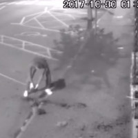 A Louth shop's CCTV picked up a man fixing their flower pots after they were vandalised