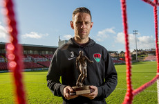 Cork City double-winning defender has more cause to celebrate with player of the month award