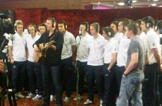 Here's today's behind-the-scenes pic from the Ireland camp