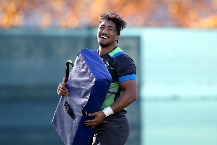 Bundee Aki during Ireland training this morning.