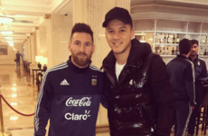 Lionel Messi confused an Argentinian teammate for a fan and posed for a photo with him