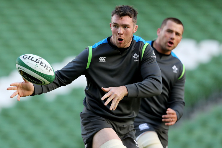 O'Mahony during today's captain's run at the Aviva Stadium.