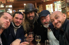 The photos of Jason Momoa on the session with the Game of Thrones cast in Belfast are joyous