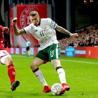 Ireland's World Cup play-off on a knife edge after draw away to Denmark