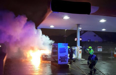 Car burst into flames at Limerick petrol station