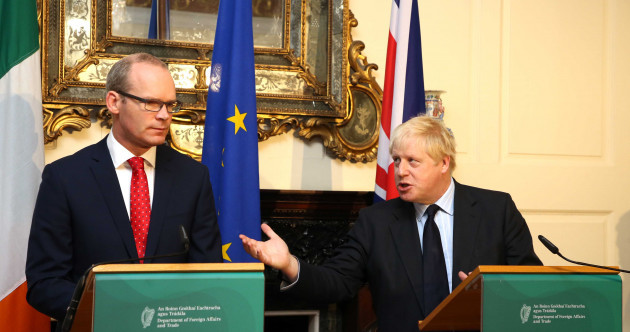 Boris Johnson and Simon Coveney weren't singing from the same hymn sheet in Dublin this morning