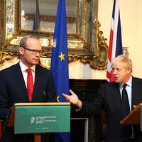 Boris Johnson and Simon Coveney weren't singing from the same hymn sheet in Dublin this morning