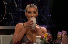 Kim Kardashian drank a sardine smoothie instead of revealing details about her sisters' pregnancies...it's the Dredge