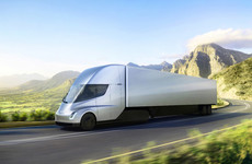 'It's designed like a bullet': Tesla unveils all-electric semi truck