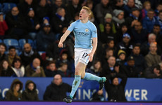 De Bruyne integral again as Manchester City continue formidable form