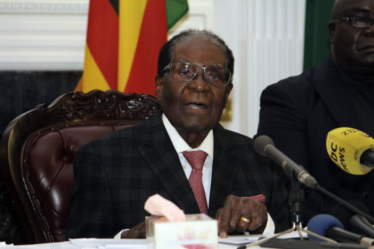 President Robert Mugabe delivers his speech during a live broadcast last week.