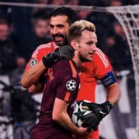Exchange between Buffon and Rakitic illustrates Italian legend's popularity