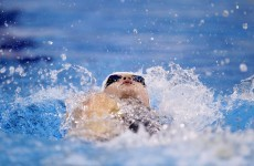Nocher warms up with personal best in 100m backstroke