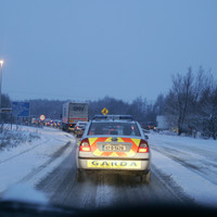 Motorists warned to slow down as snow-ice alert remains in place
