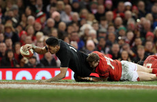 Naholo, Ioane strike as All Blacks extend Wales misery