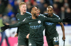 Late Sterling goal sets new away wins record for table-toppers Man City