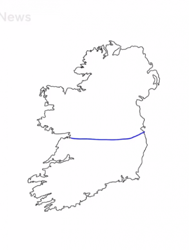 What happened when British people were asked to draw the Irish border