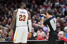 LeBron James ejected for first time in his career