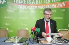 Adams: Treaty runs 'contrary' to essence of Irish republicanism