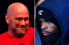UFC champ Woodley hits back at 'delusional' Dana White over Diaz claim