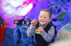 Little Tadhg got dragged around the studio and instantly became the star of the Toy Show