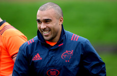 Encouraging news on the injury front for Munster as Zebo trains after damaged ribs