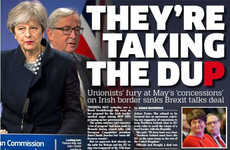 'DUP-ed', 'May humiliated': How UK papers reacted to the last-minute block on Irish border deal