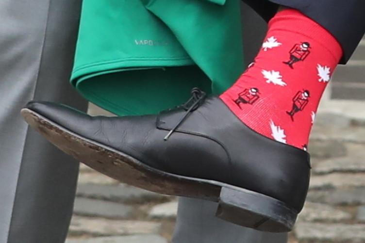 Leo Varadkar's Canadian themed socks.