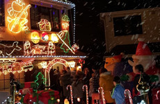 The Dublin man who goes all out with his Christmas lights for charity has added a snow machine