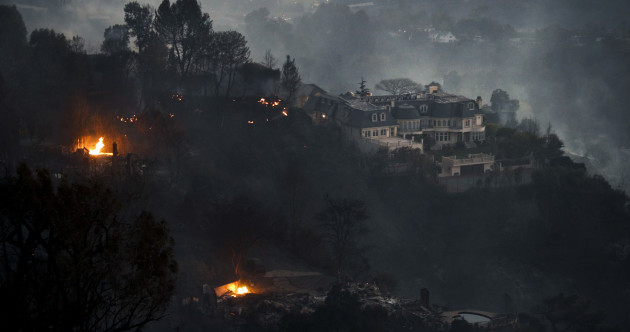 Mansions belonging to Beyonce and Rupert Murdoch among those evacuated due to wildfires