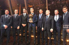 Ronaldo awarded record-equalling fifth Ballon d'Or under the Eiffel Tower